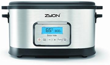 Zyon Premium-Vakuumgarer / Sous Vide zum langsamen Garen im Wasserbad, 8,5 l Fassungsvermögen; 520 W, inklusive Gestellen und Zangen