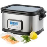 Andrew James 8,5 Liter Premium Sous Vide Wasserbad-Kocher - Inklusive Ablage und Zange - 6 Liter große Kapazität - 2 Jahre Garantie -