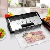 Fresh World Vakuumierer Folienschweißgeräte Automatischer Vakuumiergerät für die Aufbewahrung von Nahrungsmitteln mit Folienbox und Cutter inkl. gratis Profi-Beutel Farbenkasten Geschenk-Box Geschenkbox(Nur einmal im Jahr von Low-Cost-Marketing) -