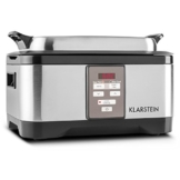 Klarstein Tastemaker Sous vide Garer Vakuum-Garer zum Niedrig-Temperatur garen (6 Liter Vakuumgarer, 550 W, Edelstahl, inkl. Grillrost und Gar-Einsatz) silber -