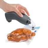 Melissa Vakuumier-Gerät batteriebetrieben, Hand-Vakuumierer kabellos inklusive Dampfgarer-geeigneten Vakuumierer-Beuteln -