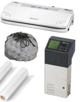 Profi Sous Vide Set + Vakuumiergerät + Vakuumbeutel Garer Niedertemperatur -