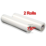 ROGUCI 20x500 cm / 2 Rollen für alle Balken Vakuumierer geeignet / Kochfest - Mikrowellen geeignet - Sous Vide geeignet / stabile Schweißnaht -