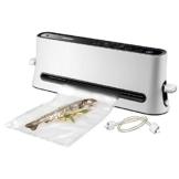 Unold 48040 Vakuumierer Design, 110 W, Patentierte 5-wandige Beutel/Folienstärke 75/95 m, weiß -