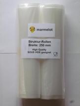 Vakuumfolie mit Struktur für alle Folienschweißgeräte 2 Rollen 25cmx6m / Deutsche Qualität -